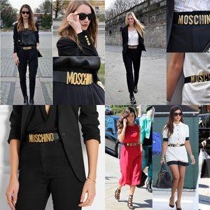 MOSCHINO Logo embellished belt 🖤